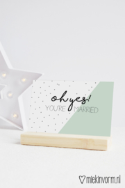 oh yes! you're married | Ansichtkaart