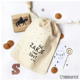 stoffen zakje || Het zakje van Sint & Piet