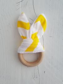 Bijtring bunny (geel)