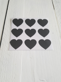 Muursticker Hearts