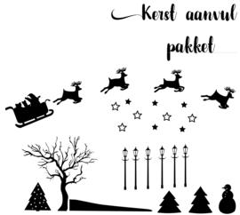 Aanvulpakket Kerst straatje