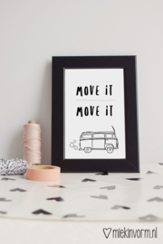 Move it move it | Ansichtkaart