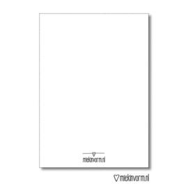 Met jou is de wereld mooier | Dubbelgevouwen ansichtkaart met envelop