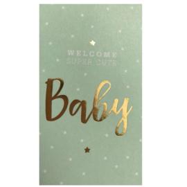 Sticker | Welkom super cute baby | blue