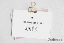 You make my heart smile | Ansichtkaart