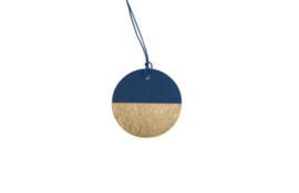 Papertags | Half moon | Petrol blue/gold