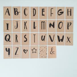 DIY Slinger | Mini-kaartjes Alfabet | letters A tot Z + symbolen