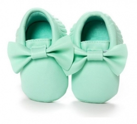 Moccasins Bow (mint)