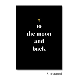 Love to the moon and back | Ansichtkaart