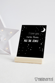 I love you more than all the stars | Ansichtkaart