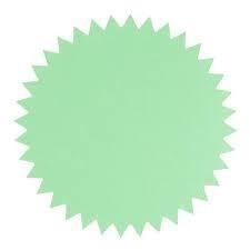 Sticker | deco star | Mint groen