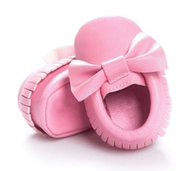 Moccasins Bow (pink)