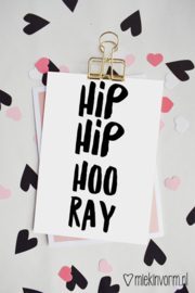 HIP HIP HOORAY | Ansichtkaart
