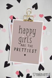 Happy girls are the prettiest | Ansichtkaart