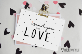 I send you some love | Ansichtkaart