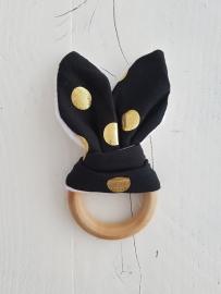 Bijtring bunny (zwart)