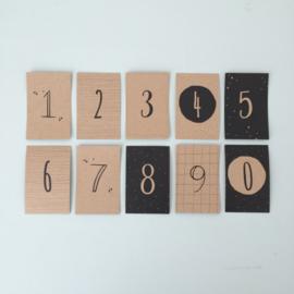 Mini-kaartjes Cijfers | cijfers 0 t/m 9