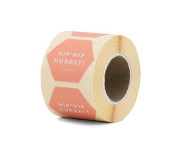 Sticker | Hip hip hurray | peach