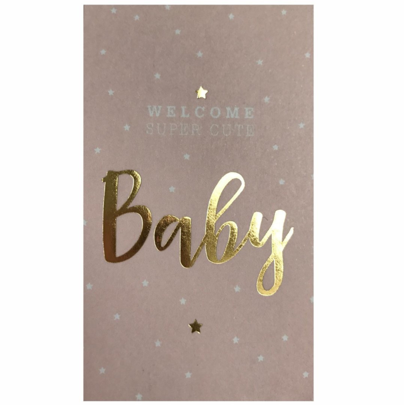Sticker | Welkom super cute baby | pink