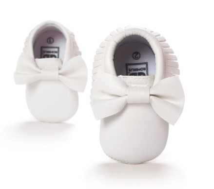 Moccasins Bow (white)