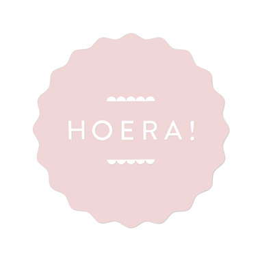 Sticker | hoera | soft pink