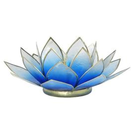 Lotus sfeerlicht waxine blauw/wit