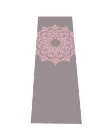 Yogamat Mandala | Antraciet met Oudroze Print