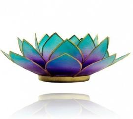 Lotus sfeerlicht 2-kleurig violet-blauw