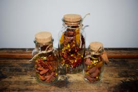 Fles droogbloemen 'Herfst'