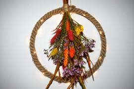 Krans met led verlichting 'fleur'