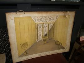 Bijbelse schoolplaat Tabernakel van binnen