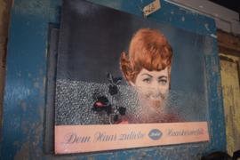 Vintage reclame poster 'Haarkosmetic'