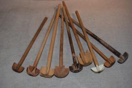 Oude houten klopper middel