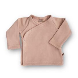 Overslag shirt Rib (Pale Pink)