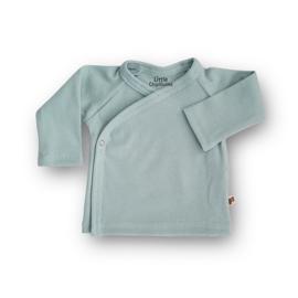 Overslag shirt Rib (Canal Blue)