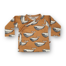 Overslag shirt Whales (toffee)