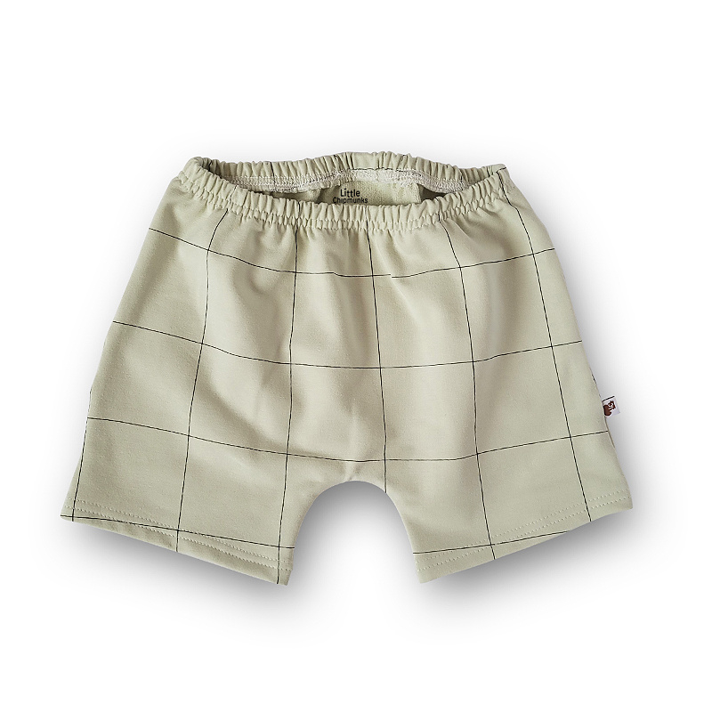 Shorts Grid Fog Green