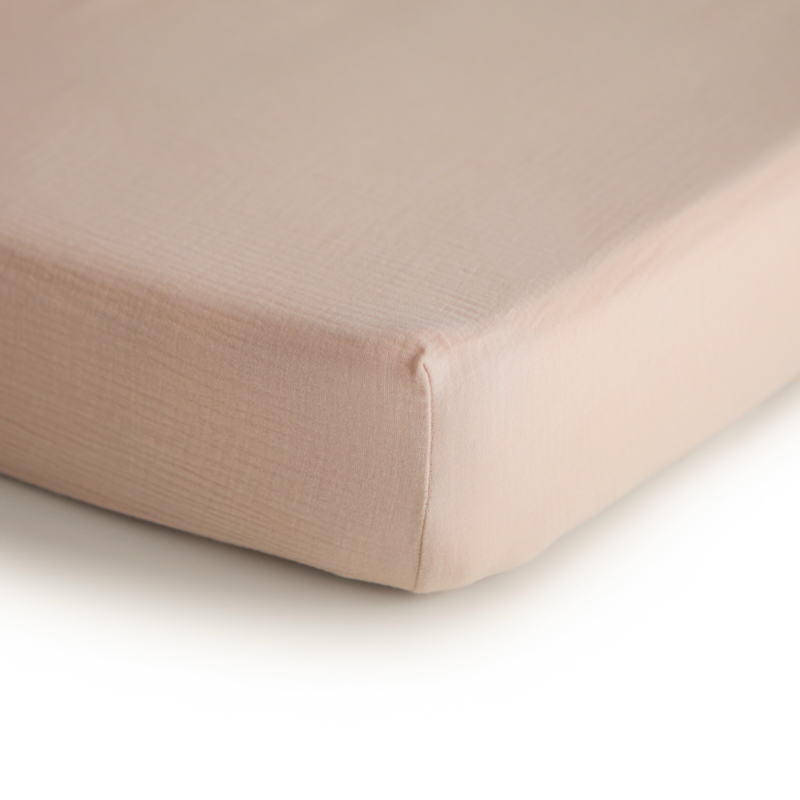 Hydrofiele Crib Sheet | 100% Organic Cotton (Blush)