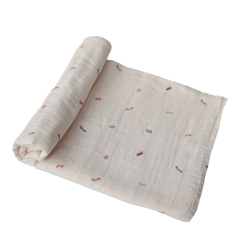 Hydrofiele Swaddle Blanket | 100% Organic Cotton (Cars)