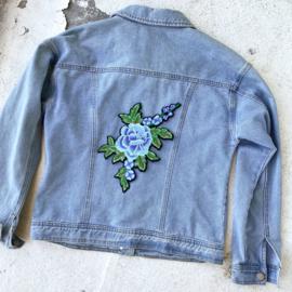 XL blue flower patch