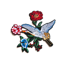 XL floral bird patch II