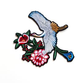 XL Floral bird patch I