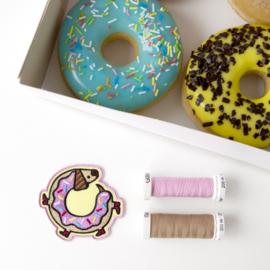 Dachshund Donut geborduurd embleem