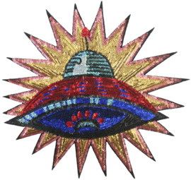 SEQUIN XXL SPACESHIP PATCH