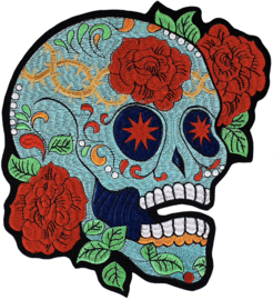 TURQUOISE SUGAR SKULL XXL PATCH