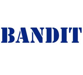 BANDIT LETTER STRIJKAPPLICATIE