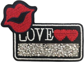 LIEBE LIPPEN STRASS PATCH