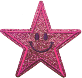 ROZE GLITTER STER PATCH