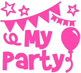 MY PARTY STRIJKAPPLICATIE