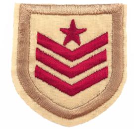 EMBLEM ARMY RED BEIGE PATCH